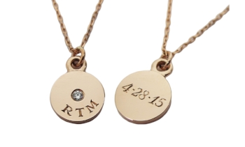 ROSE GOLD PUSH PRESENT NECKLACE