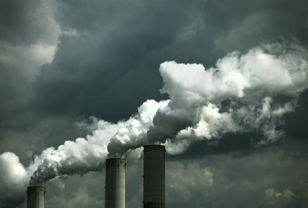 Smoke stacks of coal-fired power plant. Source: Istock by Getty Images, Drbouz