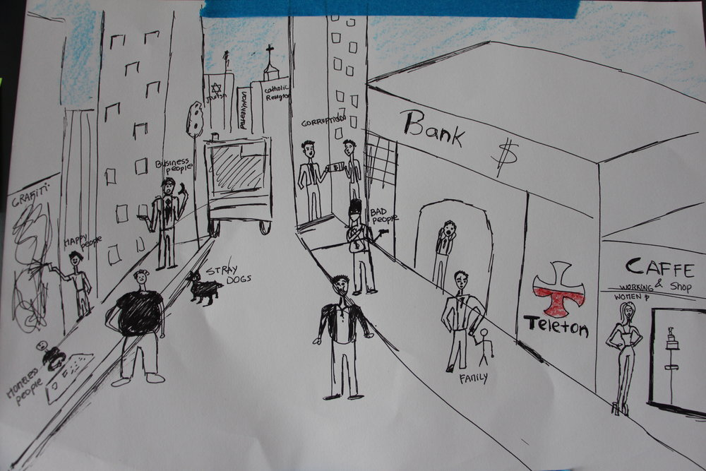 Art by a middle school student in Santiago, Chile.