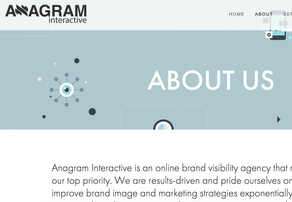 Web Content for Anagram Interactive