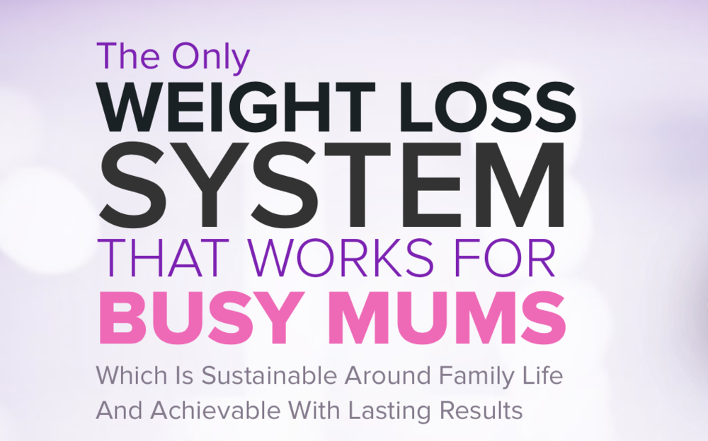 Web Content for Busy Mum Fitness