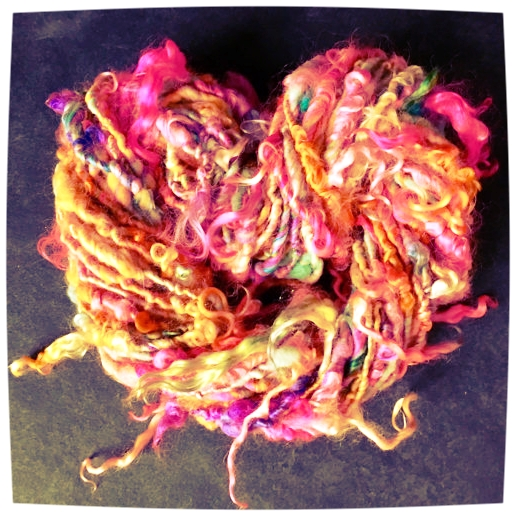 BUY THIS YARN  (click to enter ETSY shop): This yarn was created in collaboration with http://www.thisyarn.com/ to provide inspiration for working with creatively spun yarns.