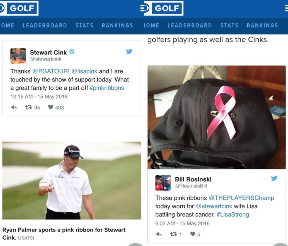Personalized Cause Pink Ribbons at the PGA