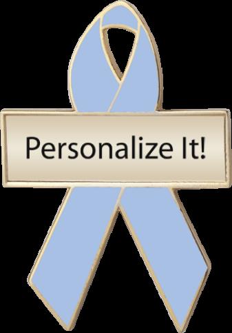 Light Blue Custom Awareness Ribbons | Lapel Pins