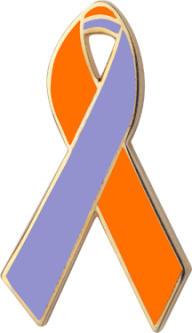 Orange and Lavender Awareness Ribbons Lapel PinsLavender Cancer Ribbon Meaning