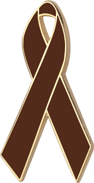 Brown Awareness Ribbon Pin