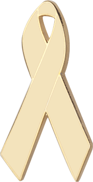 Cream Awareness Ribbon Pin