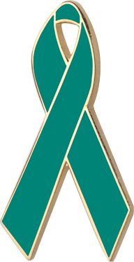 Green Awareness Ribbon Pin