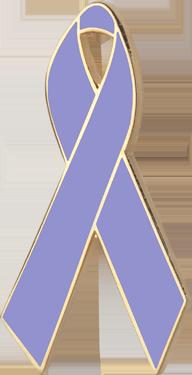 Lavender Awareness Ribbon Pin
