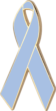 Light Blue Awareness Ribbon Pin