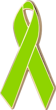 Lime Green Awareness Ribbon Pin