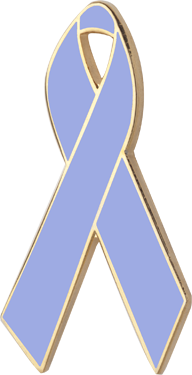 Periwinkle Blue Awareness Ribbon Pin