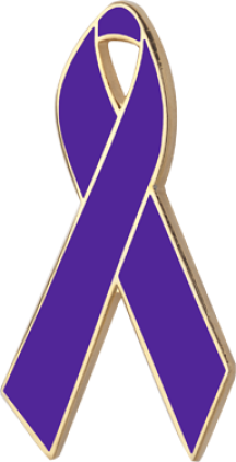 Purple Awareness Ribbon Pin