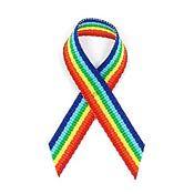 Rainbow Fabric Awareness Ribbons