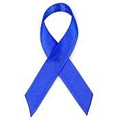 Blue Fabric Awareness Ribbons