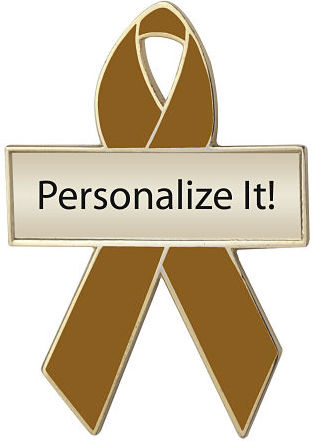 Personalized Copper Awareness Ribbon Pin