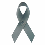 Graphite Fabric Awareness Ribbons