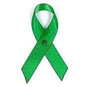 Green Fabric Awareness Ribbons