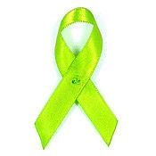 Lime Green Fabric Awareness Ribbons