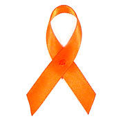 Orange Fabric Awareness Ribbons
