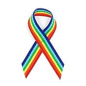 Rainbow Fabric Awareness Ribbons
