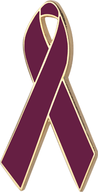 Burgundy Awareness Ribbon Pin