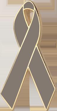 Graphite Awareness Ribbon Pin