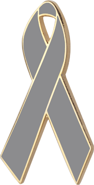 a2a98458ee2 Gray Awareness Ribbons | Lapel Pins