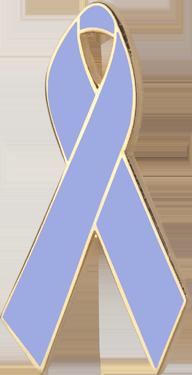 Periwinkle Blue Awareness Ribbon Pin