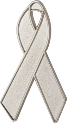 Silver Awareness Ribbon Pin