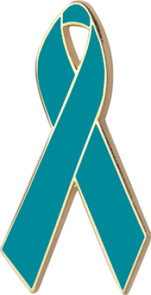 Turquoise Awareness Ribbon Pin