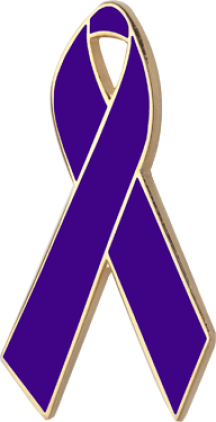 Violet Awareness Ribbon Pin
