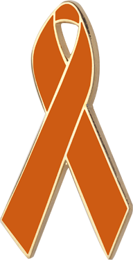 Amber Awareness Ribbon Pin