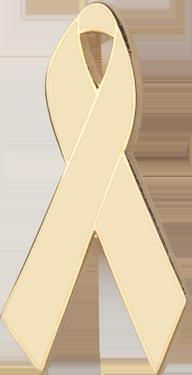 Cream Awareness Ribbon Pin