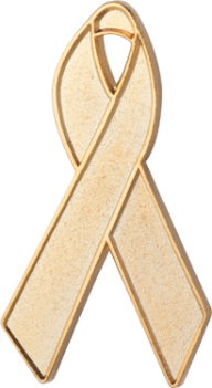 Gold Awareness Ribbon Pin
