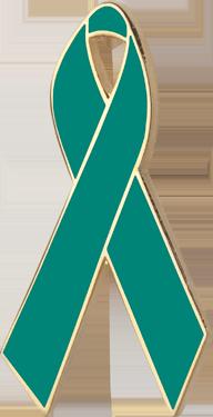 Green Awareness Ribbon Pin