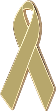 Olive Awareness Ribbon Pin