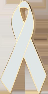Pearl Awareness Ribbon Pin