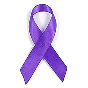Purple Fabric Awareness Ribbons
