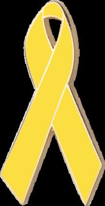 Yellow Awareness Ribbon Pin