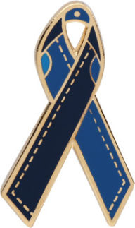 Blue Jeans Awareness Ribbon Pin