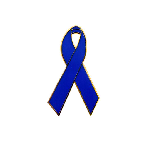 Blue Awareness Ribbons Lapel Pins Personalized Cause