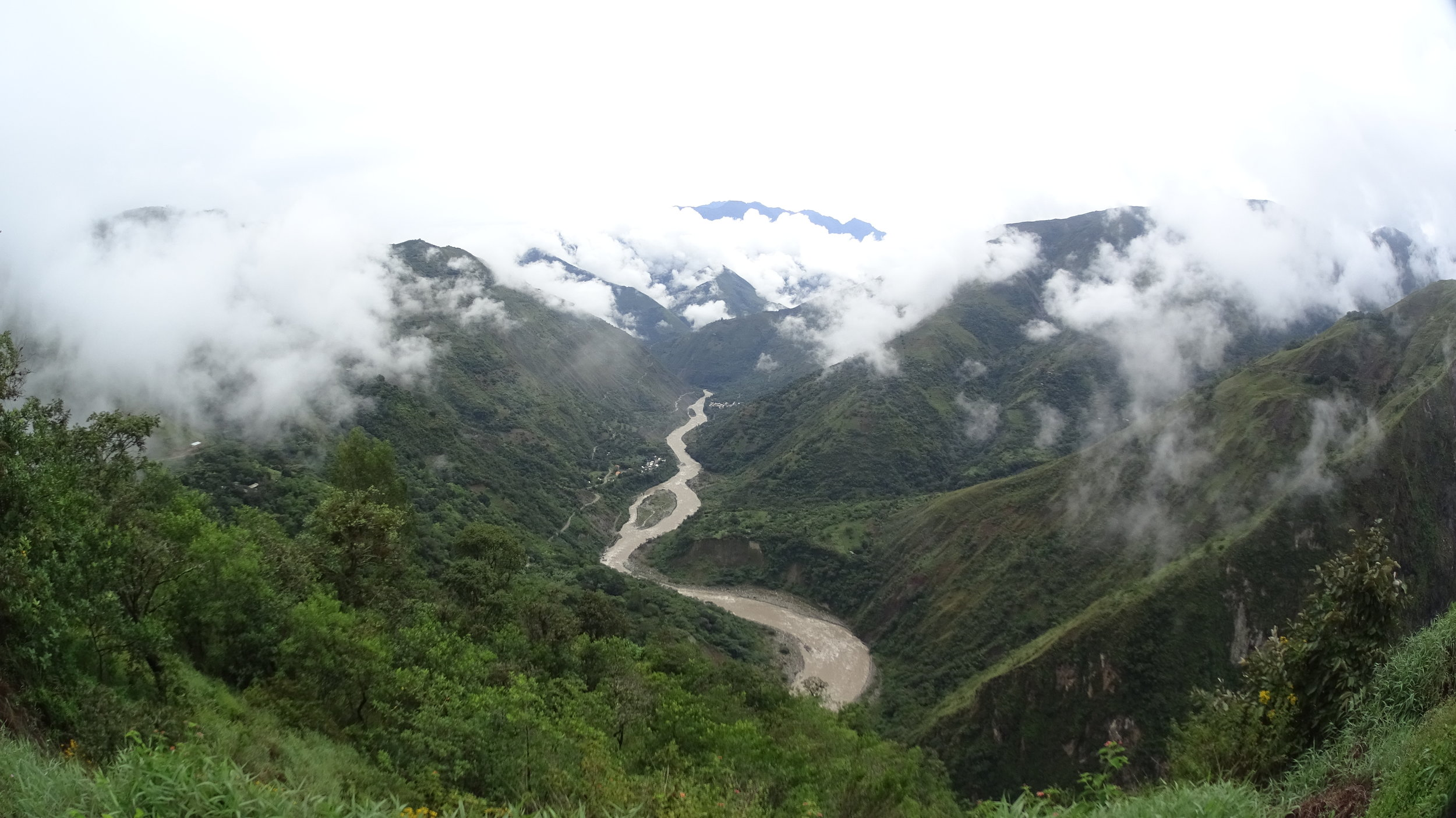 The Great Urubamba River. You can feel its strength when you hear the rapids.