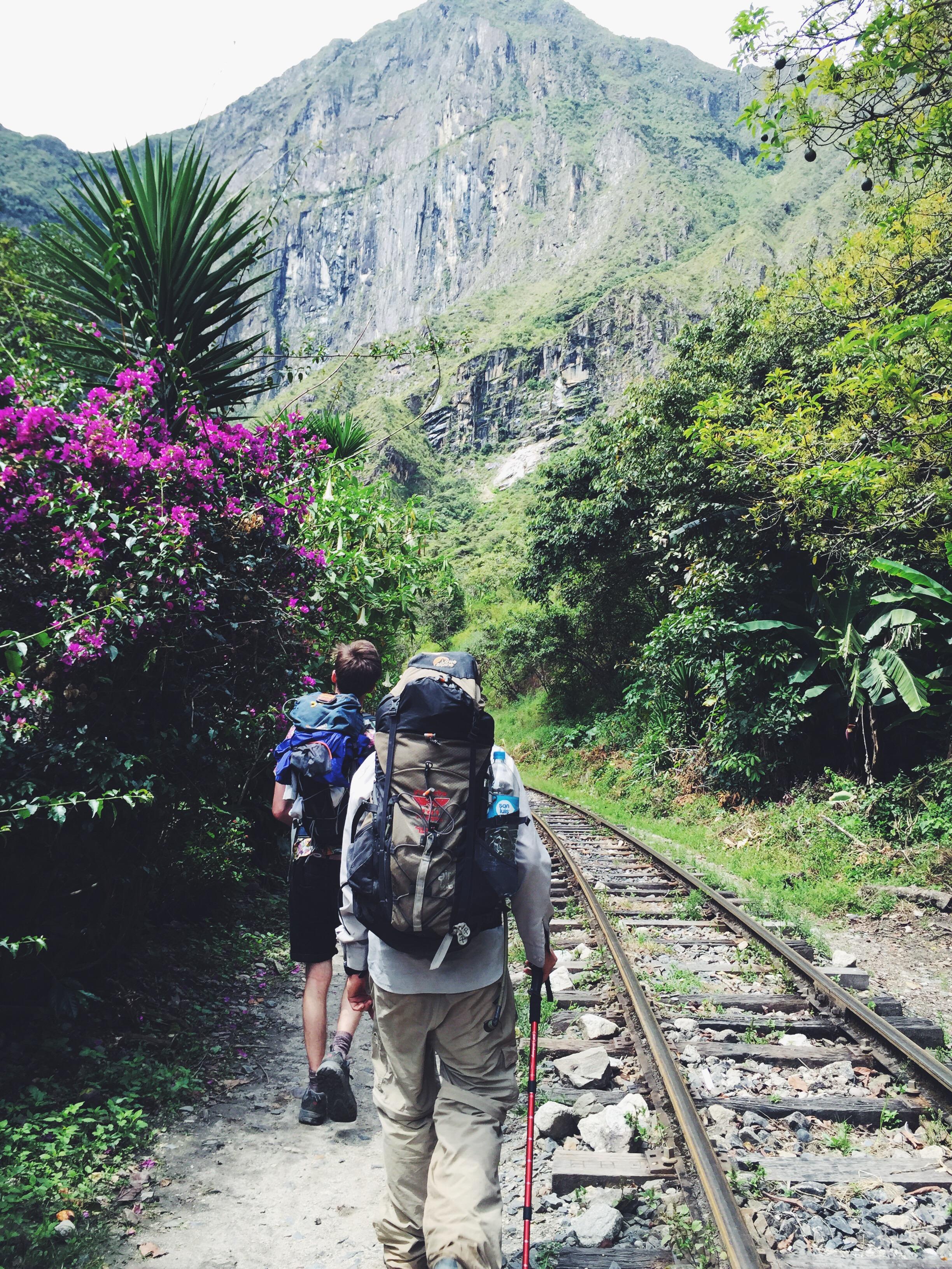 The road to Machu Picchu.