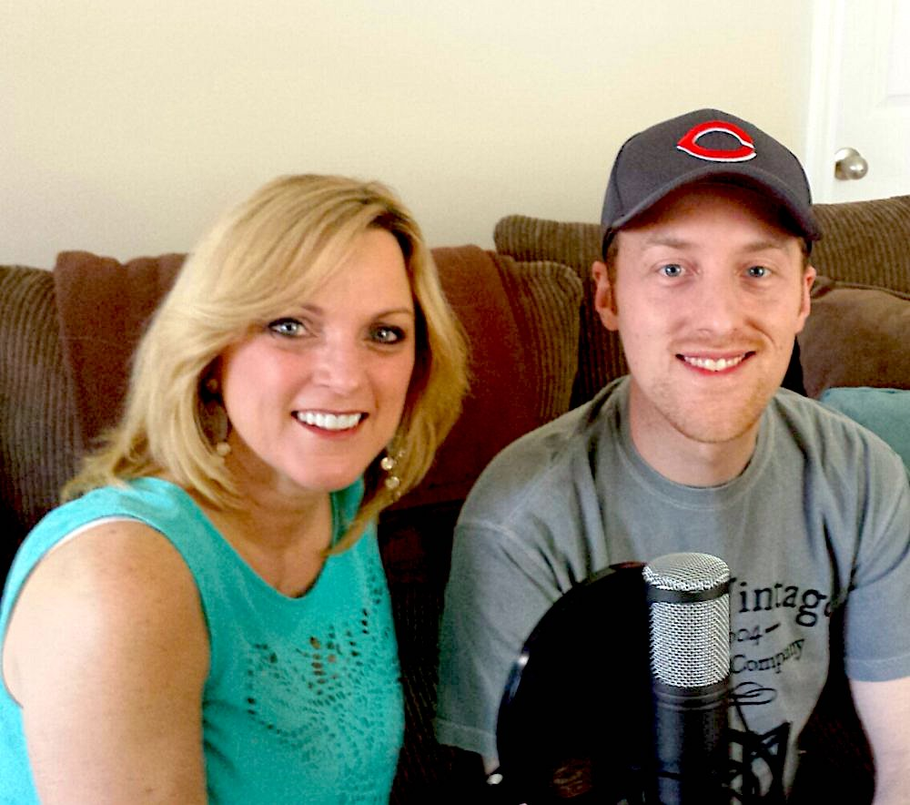 Recording a podcast with Rhonda Vincent