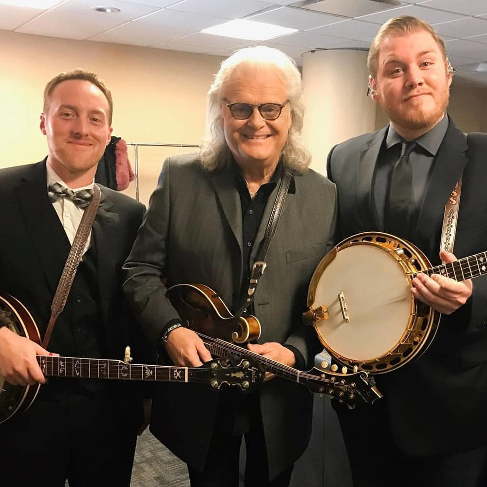 With Ricky Skaggs & Russ Carson (2018 CMA Awards)