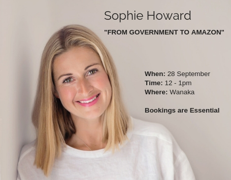 Come and see Sophie Howard tell her story about going from a diplomat to a Amazon guru -  Click for more....