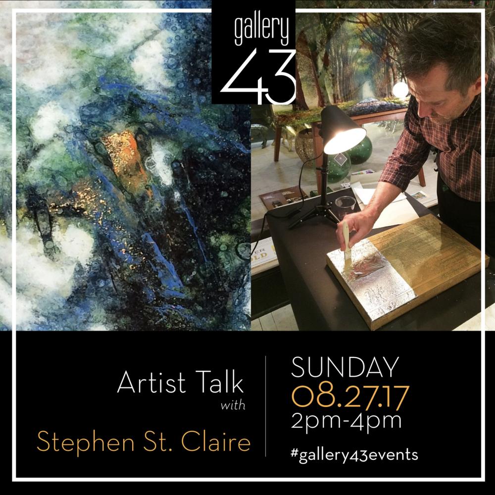 ARTIST TALK: Stephen St.Claire