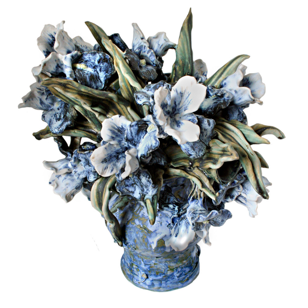 Bouquets matthew solomon ceramics siberian iris in a vase reviewsmspy