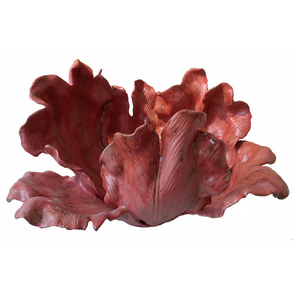 Large Earthen Red Tulip